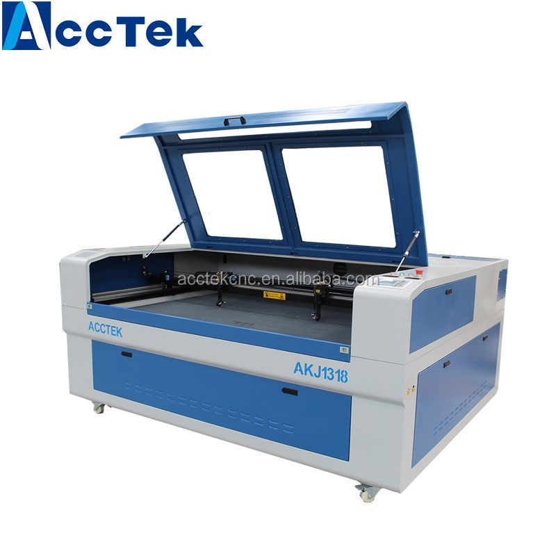 Acctek 1318 laser engraving machine cutting plotter/co2 laser engraving cutting machine engraver