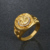 Gold Jewelry Lion Head Gold Ring Jewelry Men's Punk Style Hop Ring