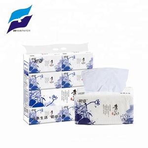 Nature white Soft Pack Facial Tissue For OEM Wholesale
