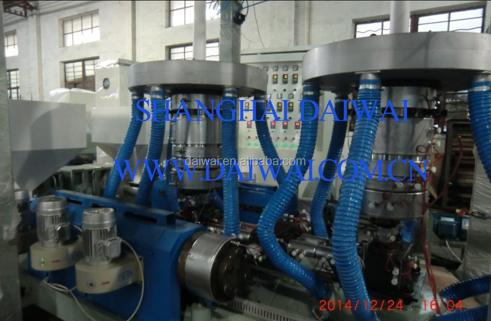 ABA TWIN HEAD BLOWN FILM EXTRUSION LINE WITH EMBOSSING ROLLER