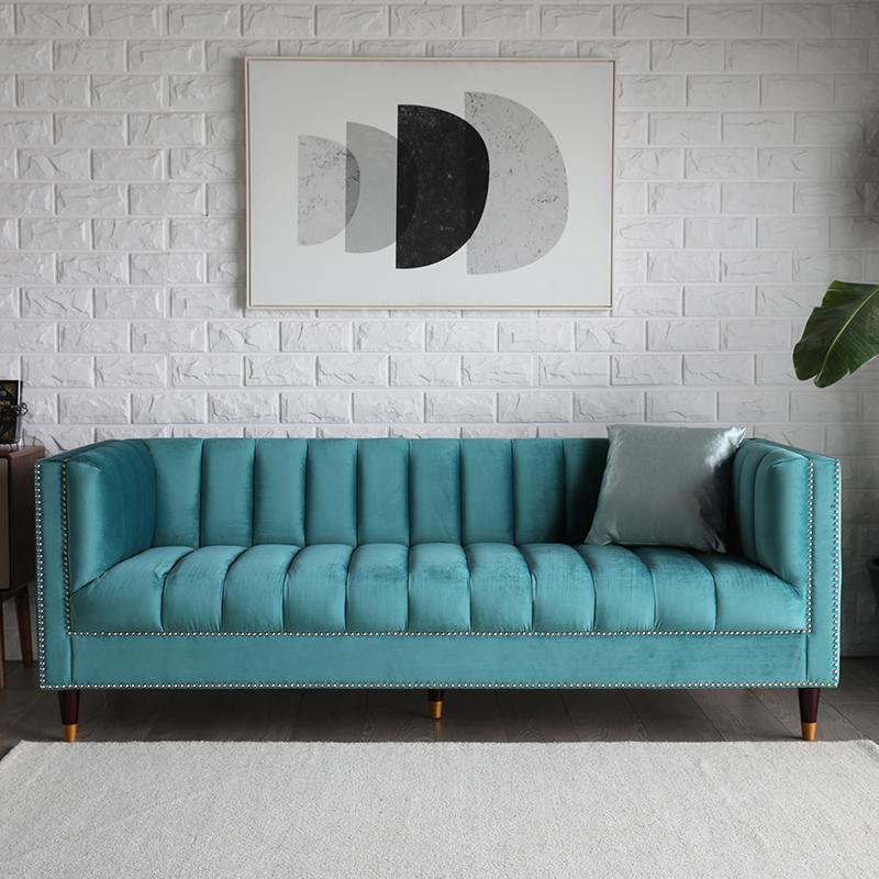 Living Room Design Couch Velvet Sofa