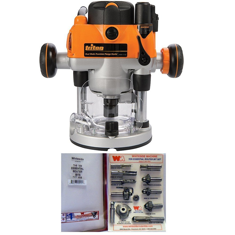 Cheap plunge router table find plunge router table deals on line at get quotations triton mof001 2 14hp precision plunge router whiteside ten essential router bit greentooth Choice Image
