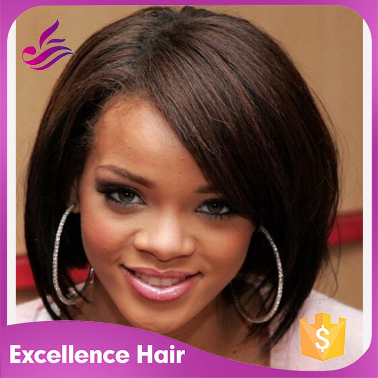 Wondrous Alta Qualidade Rihanna Bob Peruca Promocao Shop Para Alta Short Hairstyles Gunalazisus