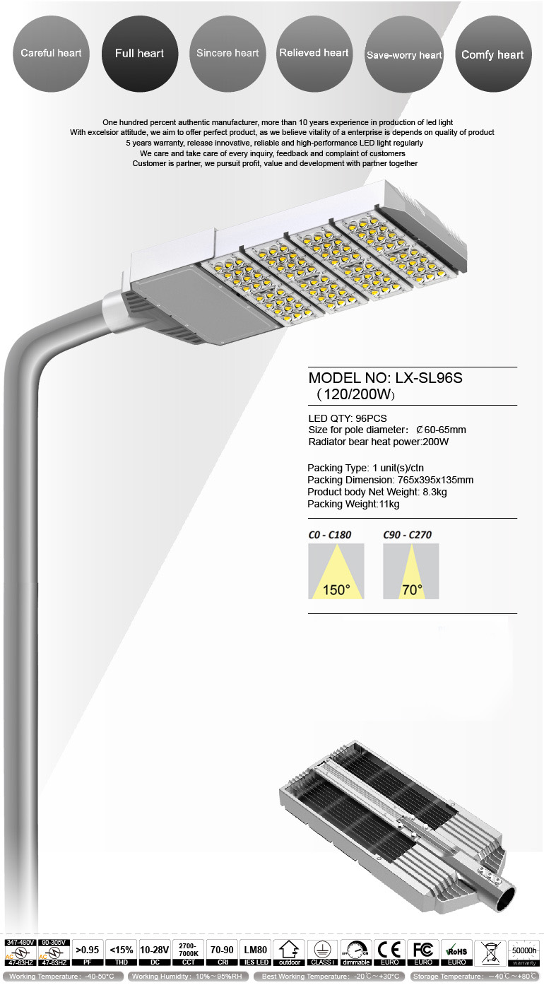 Streamline LED Steet light Private model IP65 120W