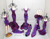 Purple Resin Mannequin Body shoes sofa Jewelry Holder sets Figurines Jewellery Holder Dolls for Display