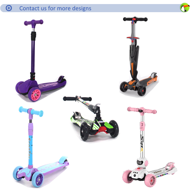 Cheap price new style baby car pu wheel light up children scooter for kick