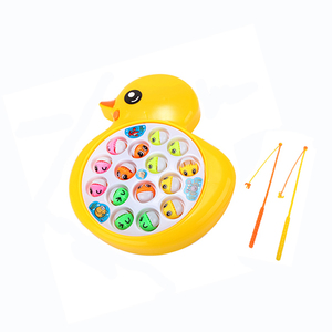 Wholesale plastic funny game battery operated magnetic fishing toy for kids