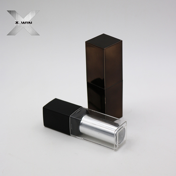 china supplier black clear plastic lipstick bottle for cosmetic wholesale