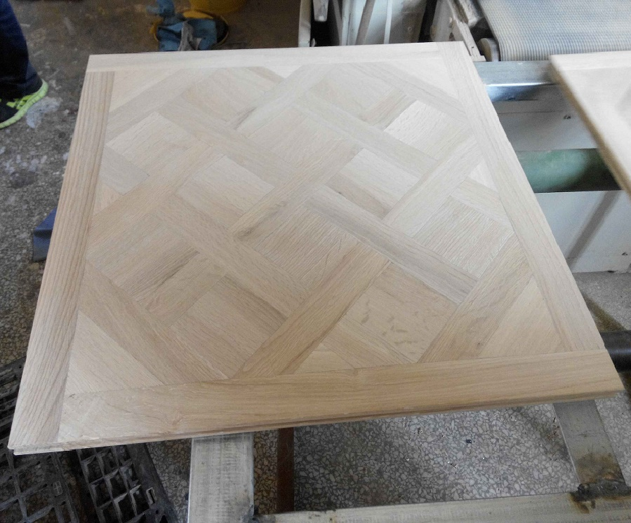 Versailles Raw Unfinished White Oak Solid Wood Parquet