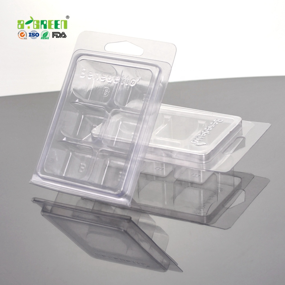 2020 nieuwe clamshell wax smelten, clear pvc clamshell verpakking
