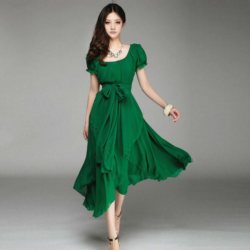 Vestidos Verdes Bandera