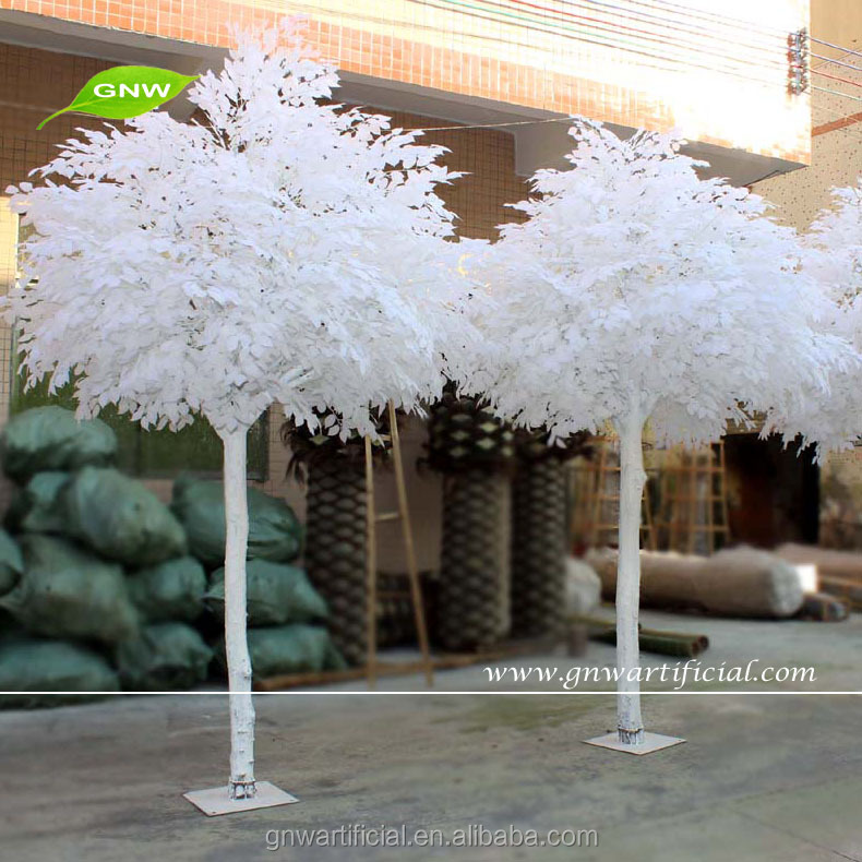 GNW BTR034 Artificial white feathers Maple Leaf romantic wedding scene decoration