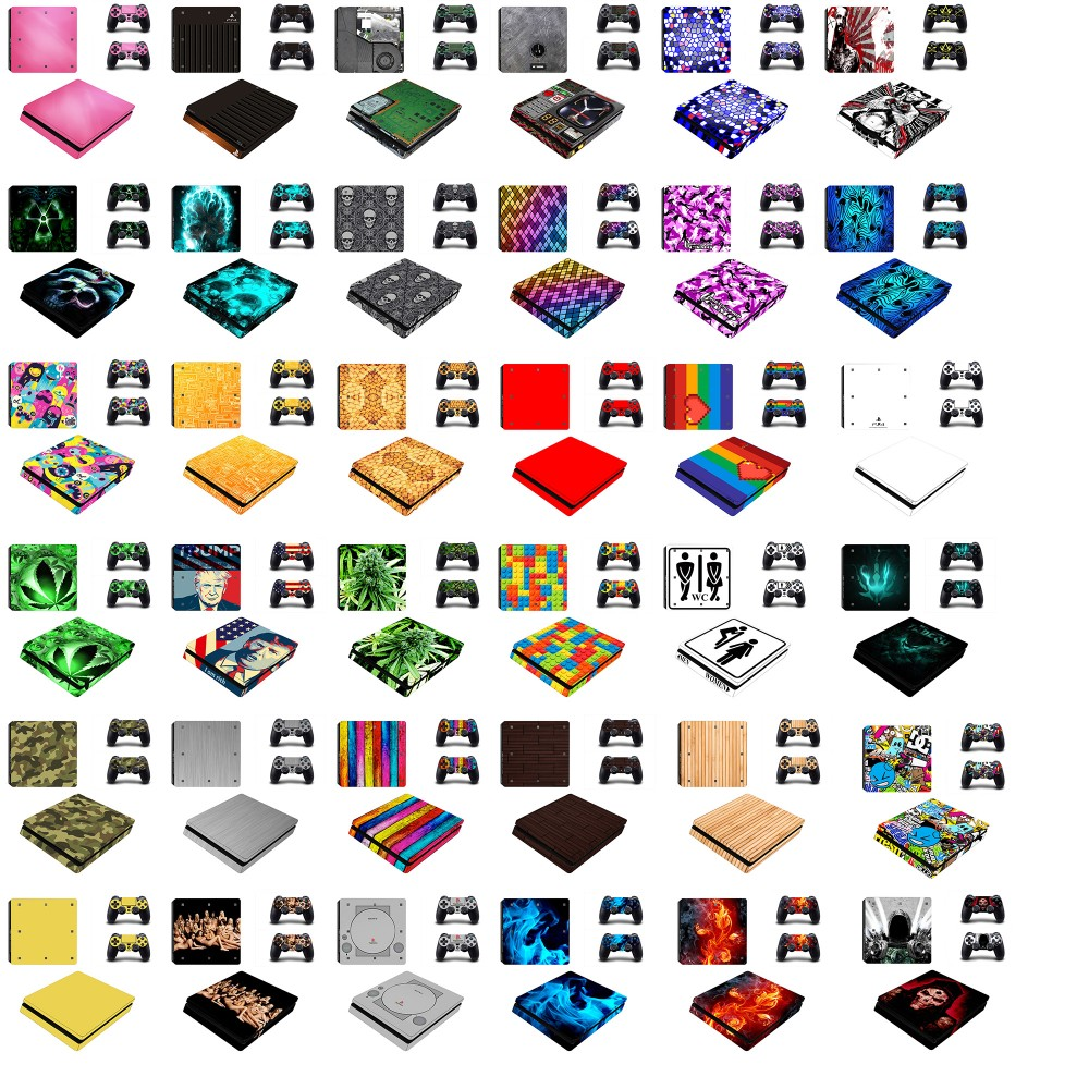 2016 colorful cube console and controller skin wrap for ps4 slim