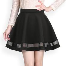 Fashion Grid Design women font b skirt b font elastic faldas ladies midi font b skirt