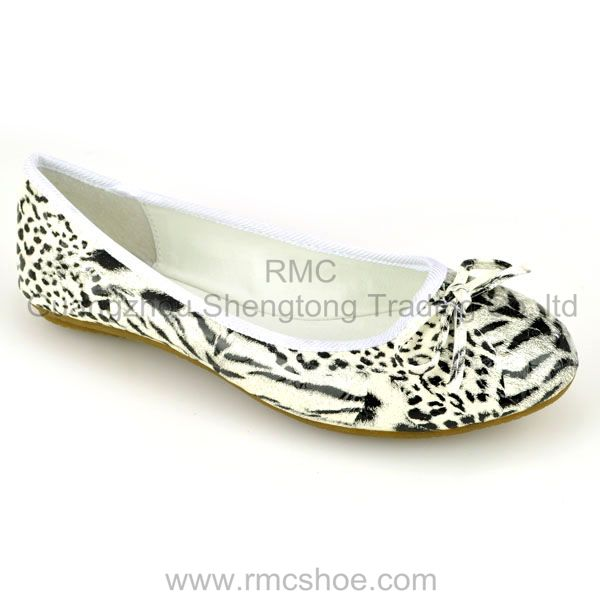 RMC Hot Sale fresh leopard boat shoes