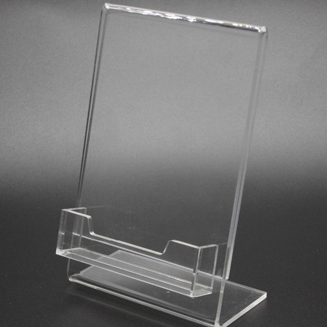 Business card display with sign holder source quality business card 4x 6quot lucite clear acrylic slanted sign holder menu holder photo price tag ad frame colourmoves