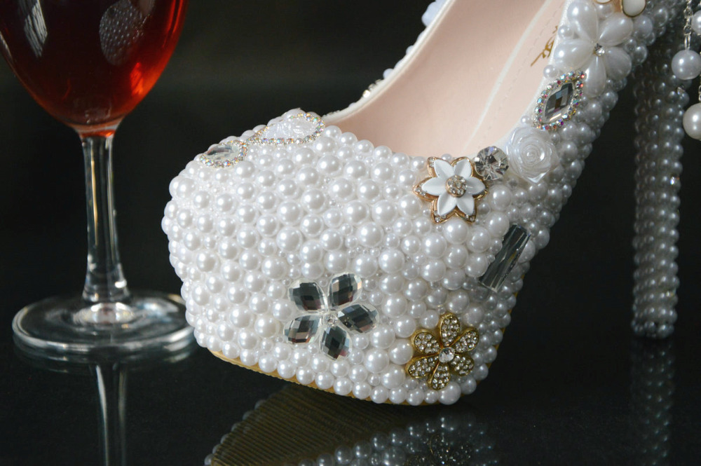 shoes color 34 BS031 wedding size White shoe women rhinestone New shoes high platform plus party women's up heel 43 qgYg6x4E