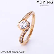 11891-Xuping Good quality brass jewelry single stone ring designs
