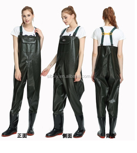 2018 Hot selling cheap pvc chest high waders being used as work wear