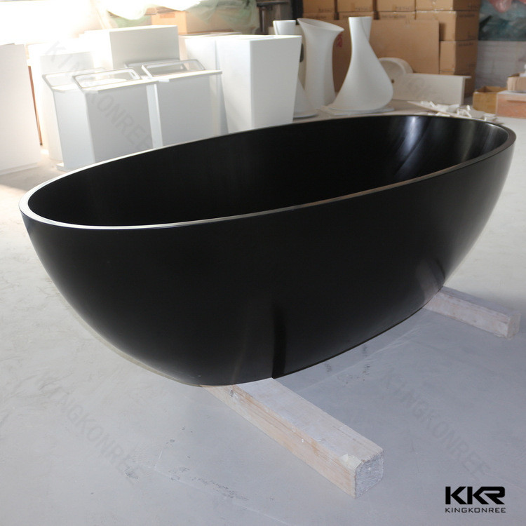 Kkr Solid Surface Black Round Freestanding Bathtub Buy
