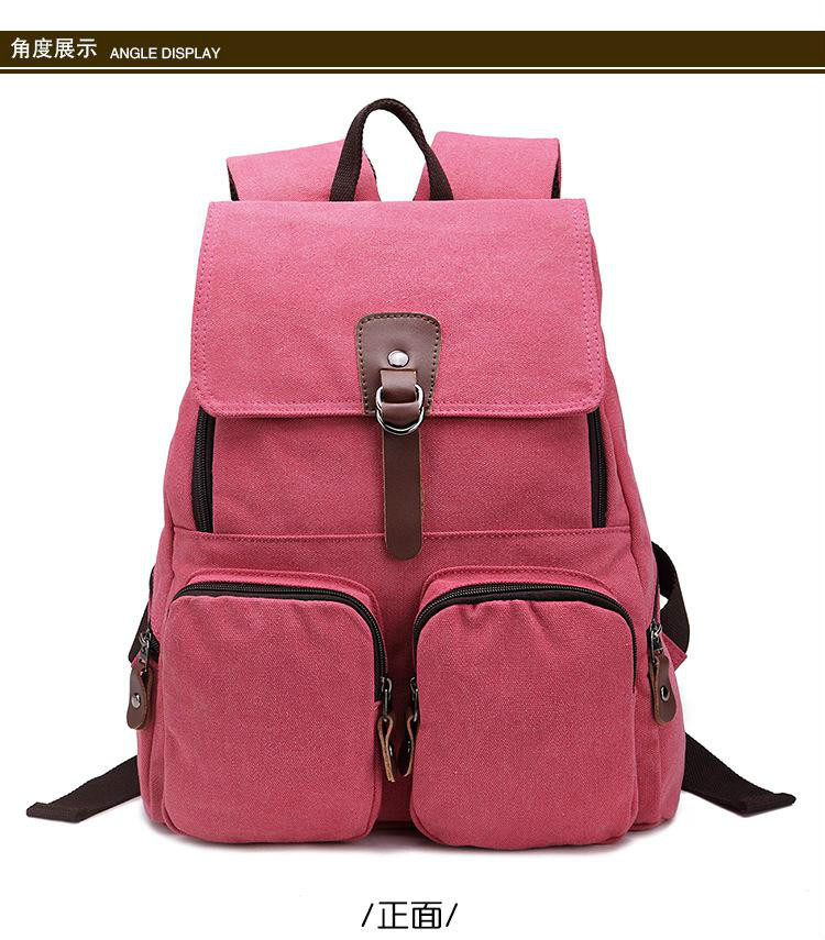 Shoulders rucksack  large capacity computer bag Unisex fashion bag Canvas bag, student bag free shipping