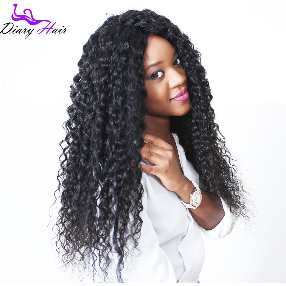 Indian remy human hair full lace front wigs kinky curly 7A unprocessed cheap best nature wig black women130% density baby hair