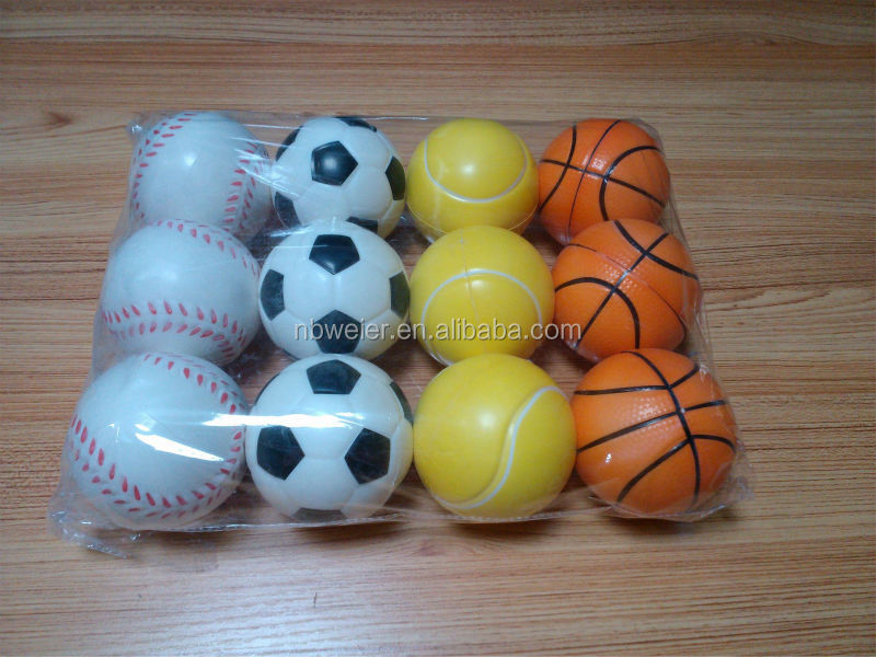 hot selling 6.3cmfull printing stress tennis ball/360 degree printed stress tennisball/customed printed cheap PU toy stress ball