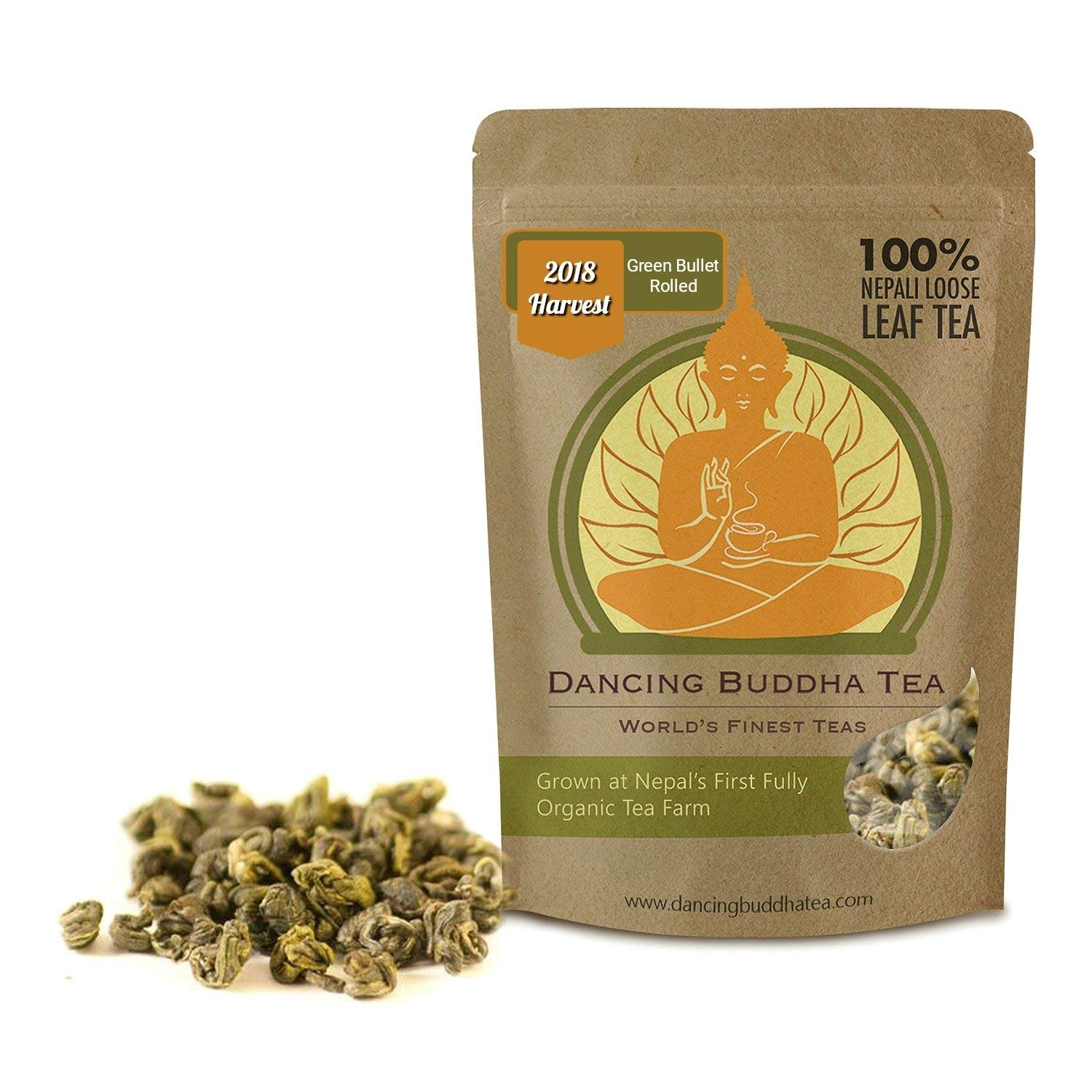 Green Bullet Rolled Nepali Green Tea 100 Grams 50 Cups