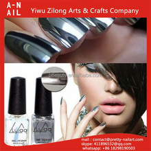 HIgh quality 6ml/bottel silver soak off water permeable nail polish