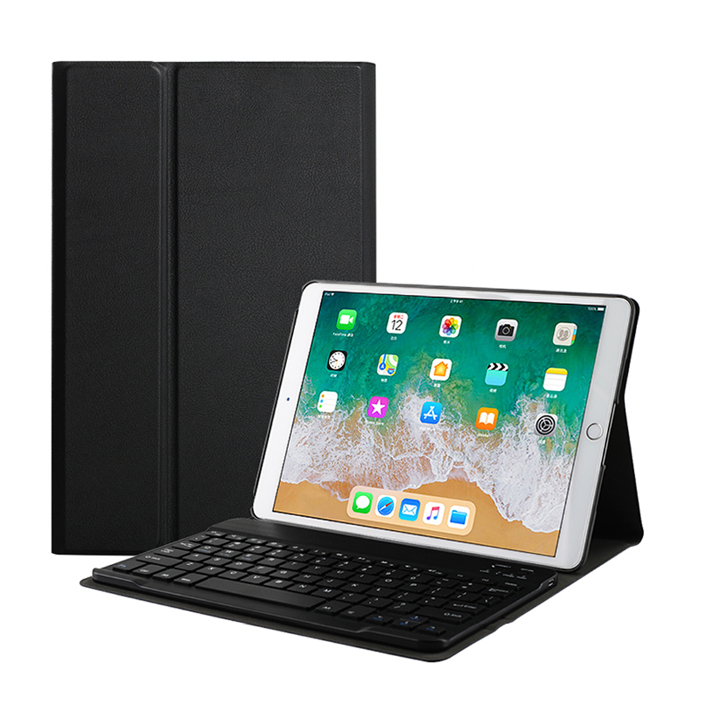 For New <strong>iPad</strong> 9.7 2018 Case with Keyboard, Built-in Wireless Bluetooth Keyboard Slim Shell Magnetic Cover Sleep/Wake