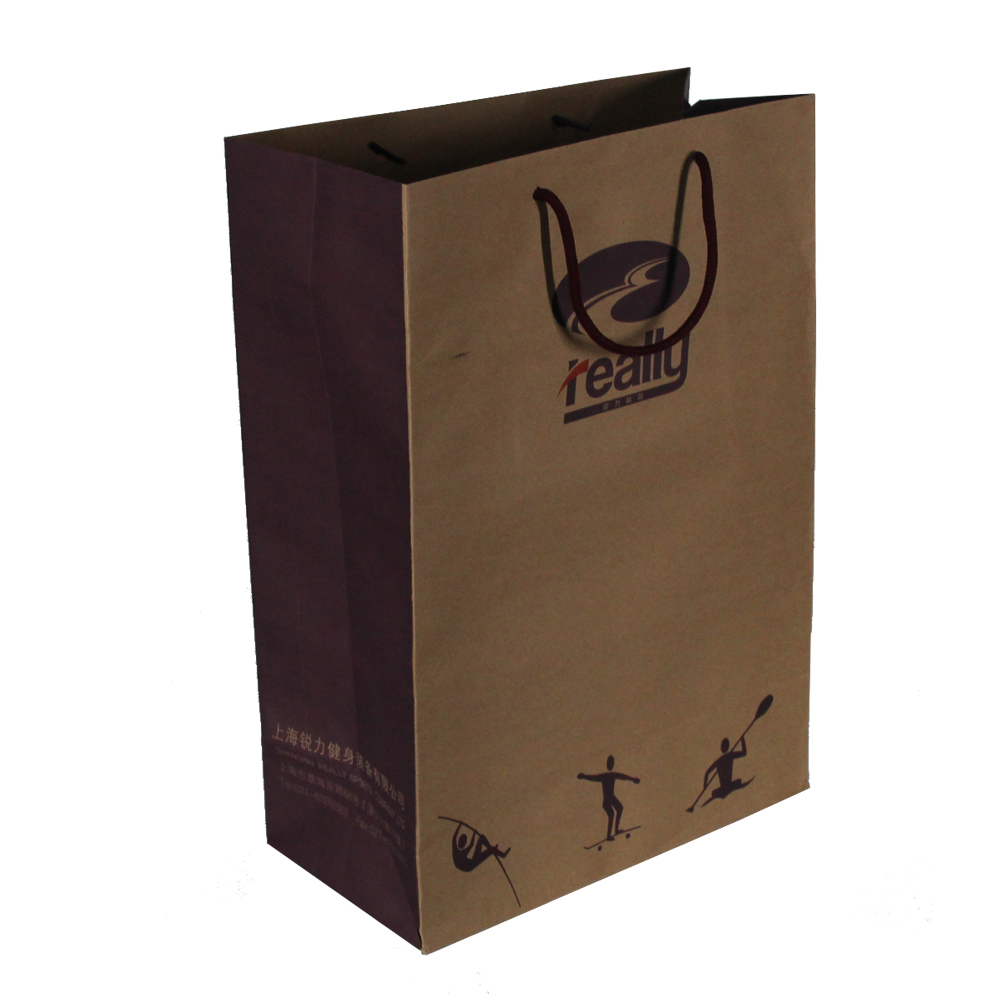 Promotional logo packaging paper bag with handle
