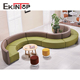 Half circle reception chester moon oval round corner s shape sofa