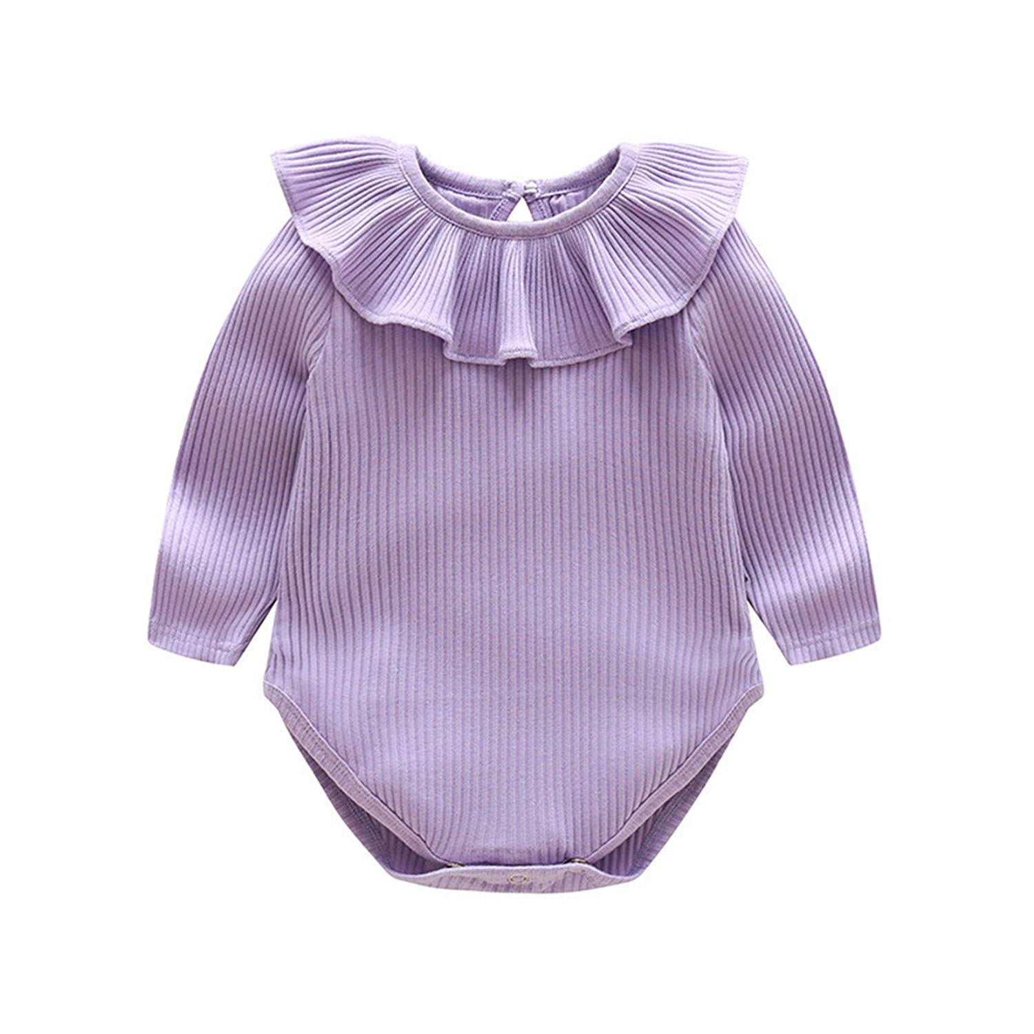 f697a03ce832 Get Quotations · Rompers Cotton Baby Boy Clothes New Long Sleeve Knitted Ruffles  Baby Girl Clothes Infant Jumpsuits Roupas