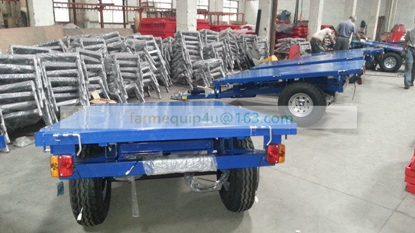 Trailer, tipping, 3 directions dumping, for Japanese compact tractors