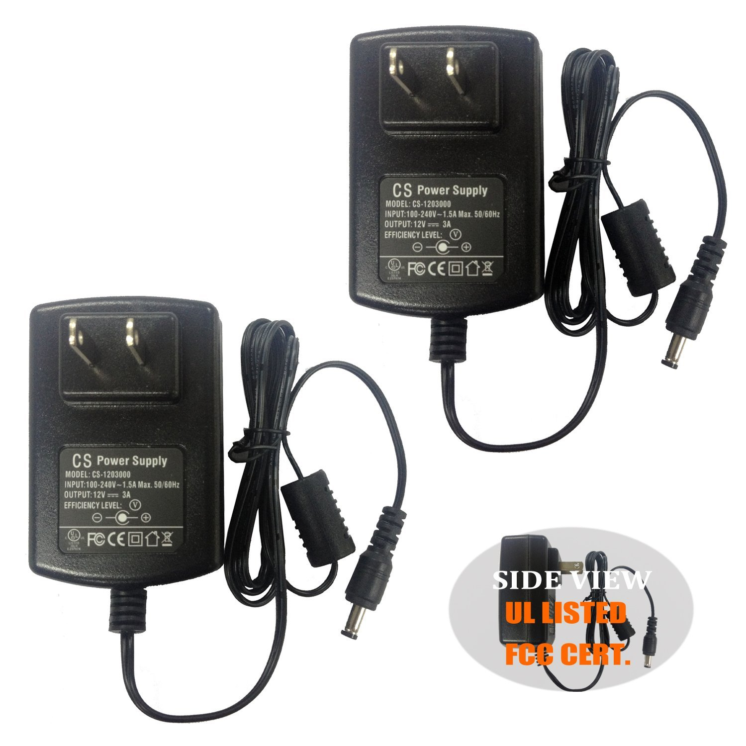 AC to DC 12V 1.5A 12V1.5A Power Supply Adapter Switching for Cameras DVR NVR LED Light Strip DC3.5*1.35mm UL listed FCC