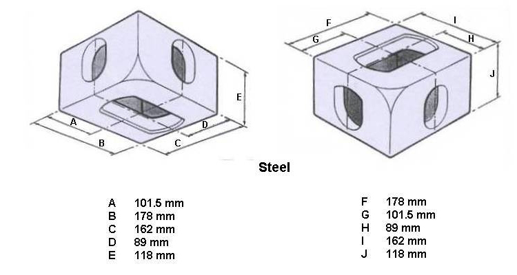 Iso 1161 Casting Steel Fitting Iso Shipping Container