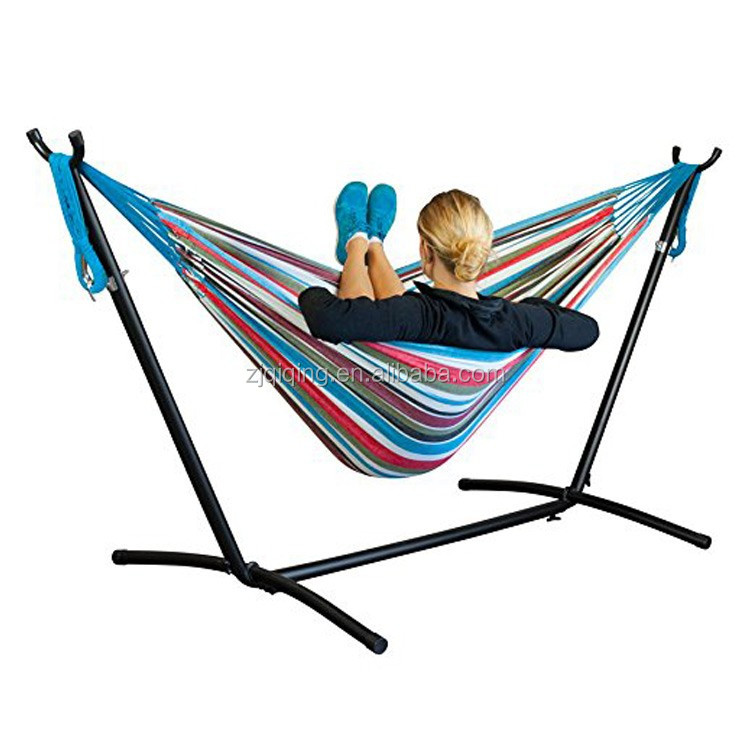 Double/single Hammock Outdoor Swing Camping Hanging Hammock Stand JF-18-5