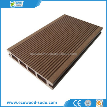 Outdoor anti slip waterproof wood plastic composite deck for Non slip composite decking