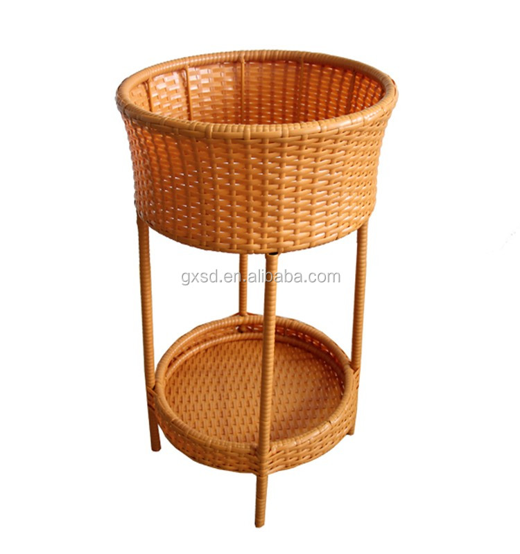 plastic rattan wicker party outdoor deck yard pool patio wine beer drink beverage champagne cooler outdoor