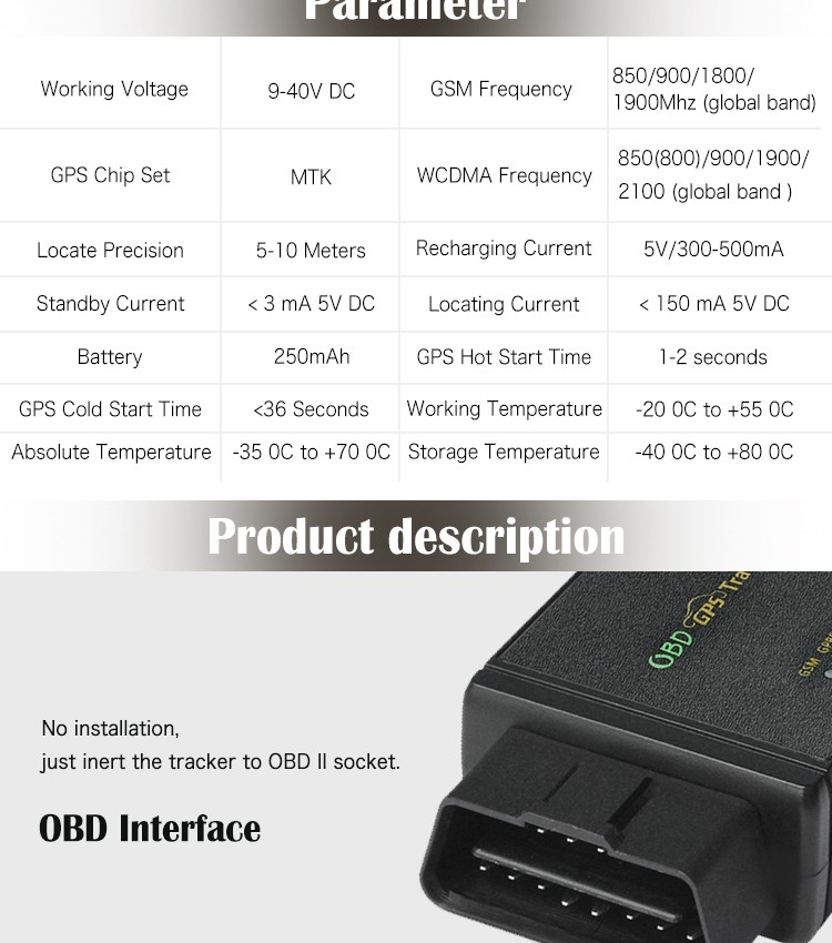Spy Vehicle locator 4G 3G obd2 car alarm sim card gps tracker obdii obd gps tracking devices system with diagnostic function