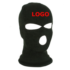Custom Shield Print Balaclava Motorcycle Ski Sport Wind Proof 3 Hole Cycle Bike Riding Outdoor Topeng Full Face Mask