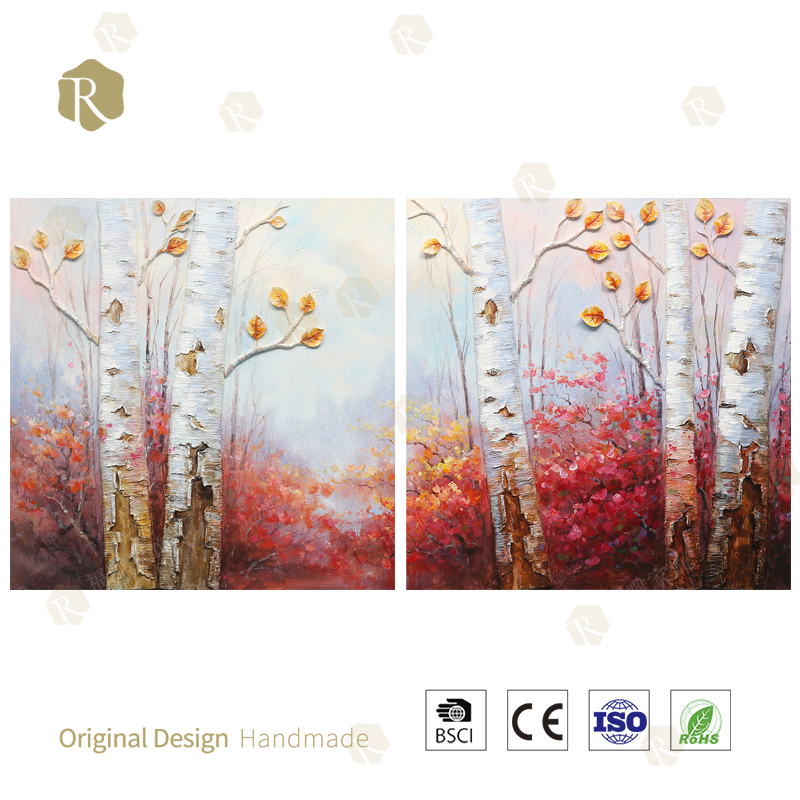 Natural Scenery Handpainted decorative Painting Oil Decor Paiting