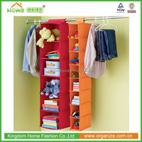 6 shelf folding fabric Closet Organizer Systems for Wardrobe