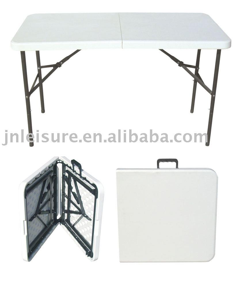 - 4 Feet Folding Blow Mold Table (plastic Table) - Buy Plastic Table,4