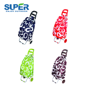 Promotional hot selling Foldable Shopping hand trolley bag Trolley Cart SP-551