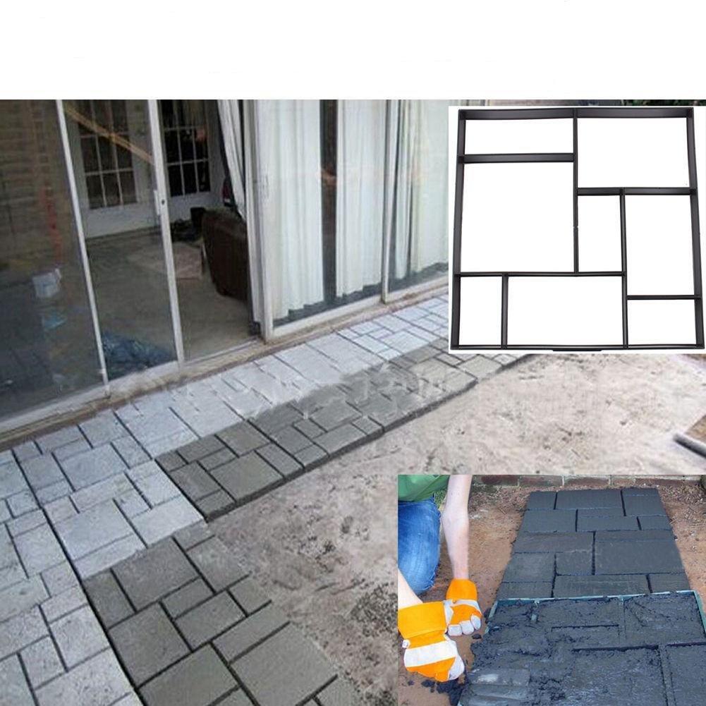 Yosoo DIY Driveway Paving Brick Patio Concrete Slabs Path Garden Walk Maker  Mould