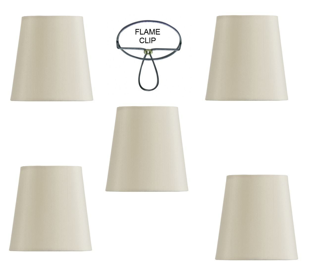 Cheap clip shades find clip shades deals on line at alibaba get quotations mini chandelier shades clip on small lamp shades set of five white linen aloadofball Choice Image