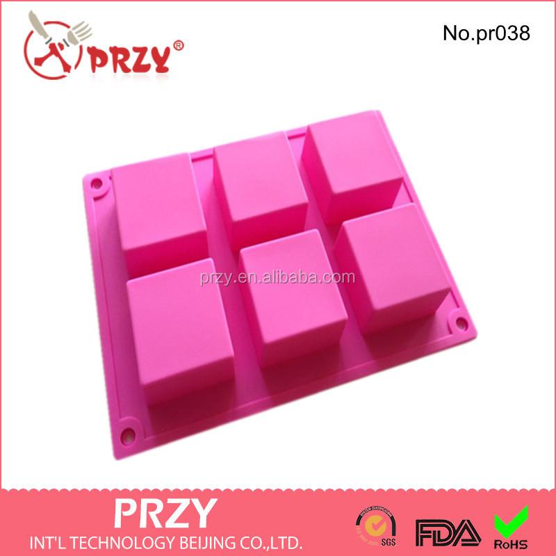 Pr038 Vierkante Vorm Siliconen Zeep Schimmelgoedkope Prijs Gewoon