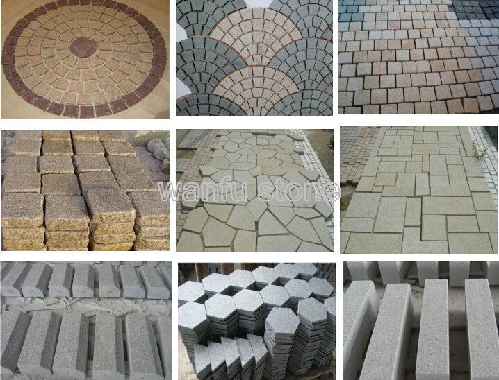 A forma di ventaglio finitrice pietra per pavimenti per esterni