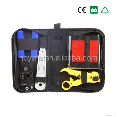 Internet Network Cable Tester Wire Crimp LAN RJ45 RJ11 CAT5 Analyzer Tool Kit